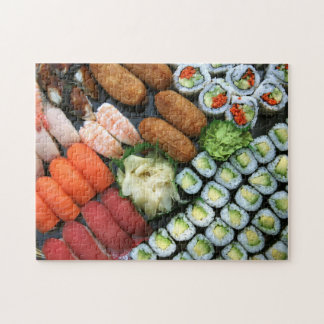 Assortment of Japanese sushi favorites Jigsaw Puzzle