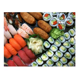 Assortment of Japanese sushi favorites Postcard