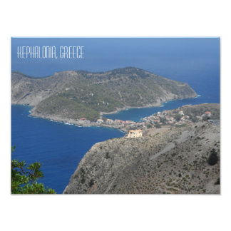 Assos Village Landscape Kefalonia Greek Island Photo Print