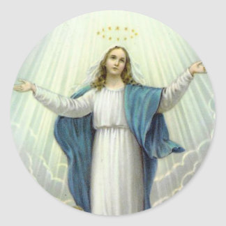 Assumption of Blessed Virgin Mary Classic Round Sticker