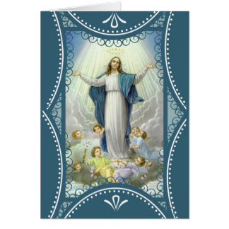 Assumption of the Blessed Virgin Mary Angels Card