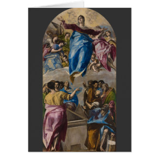 Assumption of the Virgin by El Greco Card