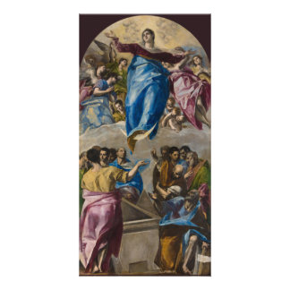 Assumption of the Virgin by El Greco Custom Photo Card