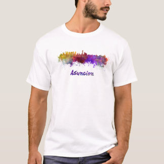 Assumption skyline in watercolor T-Shirt