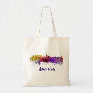 Assumption skyline in watercolor tote bag