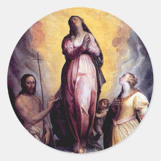 Assumption the Virgin Mary Classic Round Sticker