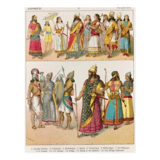 Assyrian Dress, from 'Trachten der Voelker', 1864 Postcard