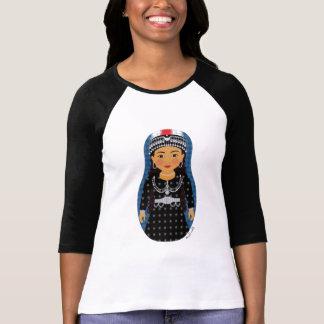 Assyrian Girl Matryoshka Ladies 3/4 Sleeve Raglan T-Shirt