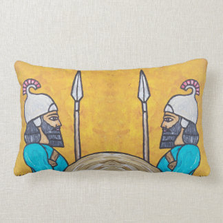 Assyrian Guardians Lumbar Pillow