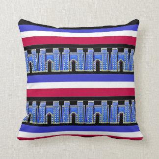 Assyrian Ishtar gate Throw Pillow1 بوابة عشتار Throw Pillow