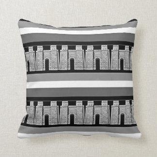 Assyrian Ishtar gate Throw Pillow2 بوابة عشتار Throw Pillow