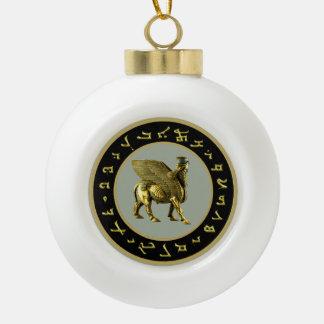 Assyrian Lamassu Snowflake Framed Ornament