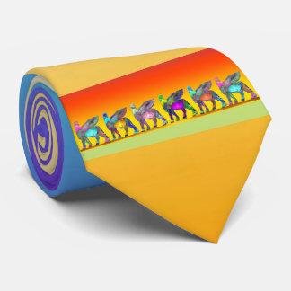 Assyrian Lamassu (Winged Bull) necktie 1
