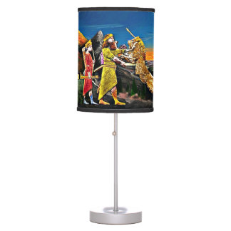 Assyrian Lion-Hunting Table lamp