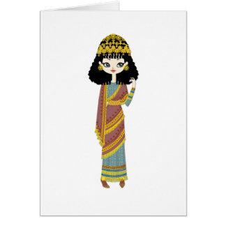 Assyrian queen Greeting Card, Card