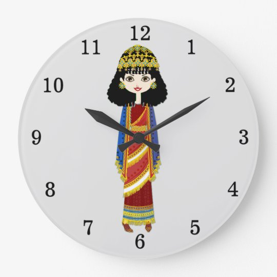 Assyrian Queen Wall Clock
