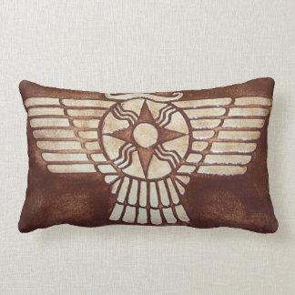 Assyrian Winged Disc Lumbar Pillow