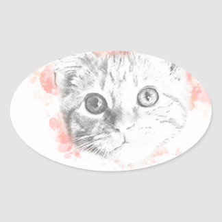 Asta - Malcolm's Daemon from His Dark Materials Oval Sticker