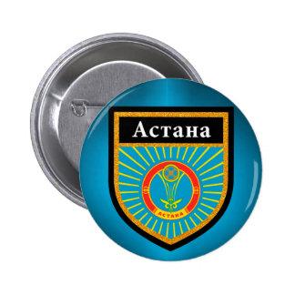 Astana Flag 2 Inch Round Button