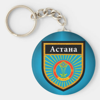 Astana Flag Basic Round Button Keychain