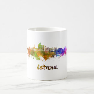 Astana skyline in watercolor coffee mug