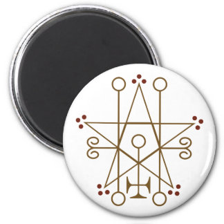 Astaroth Goetic Seal 2 Inch Round Magnet