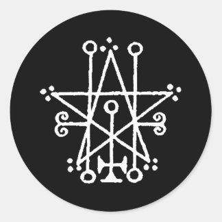 Astaroth Sigil Round Sticker