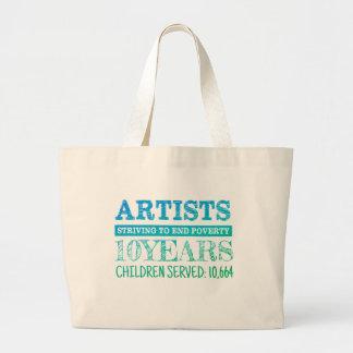 ASTEP jumbo tote bag (blue/green)