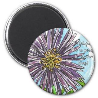Aster 2 Inch Round Magnet