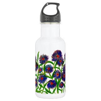 Aster Flowers on Water Bottle