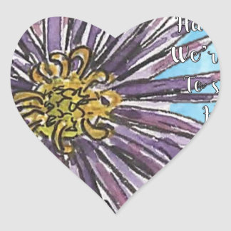 Aster Heart Sticker