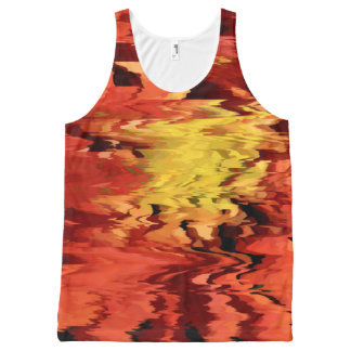 Aster in the Wind All-Over-Print Tank Top