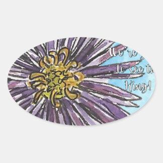 Aster Oval Sticker