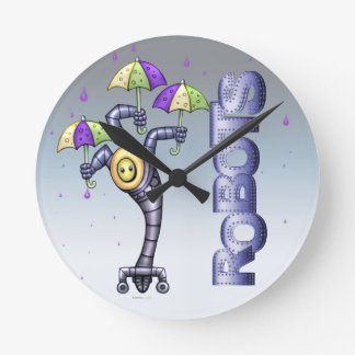 ASTER ROBOT ALIEN CARTOON MEDIUM ROUND CLOCK