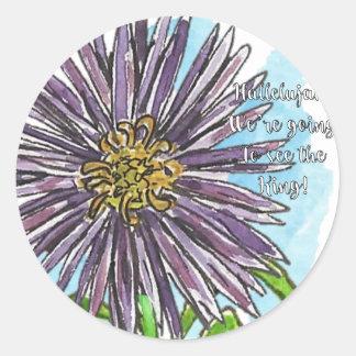 Aster Round Sticker