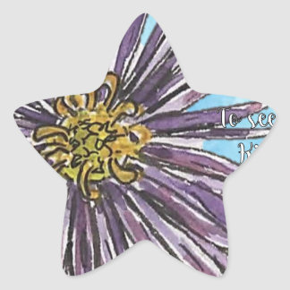 Aster Star Sticker
