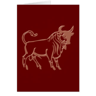 Asterisk bull zodiac sign Taurus Card