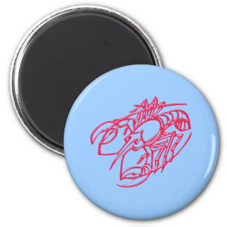 Asterisk cancer zodiac sign CAN cerium 2 Inch Round Magnet