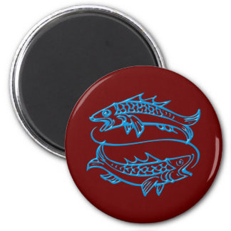 Asterisk of fish zodiac sign Pisces Magnet