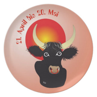 Asterisks bull/plate dinner plate