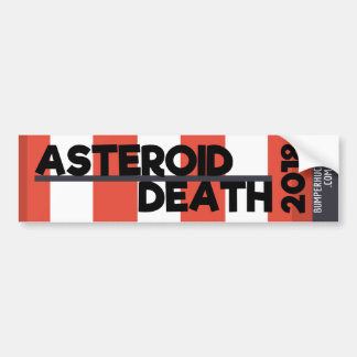 Asteroid/Death - 2018 Bumper Sticker