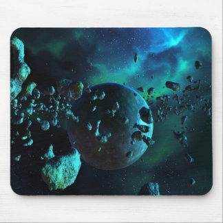 Asteroid Field Fantasy Mouse Pad