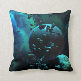 Asteroid Field Fantasy Throw Pillow