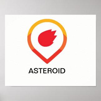 Asteroid logo poster