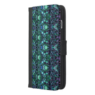 """Asteroids"":Green Phone Wallet/Folio: Choose Phone iPhone 6/6s Plus Wallet Case"