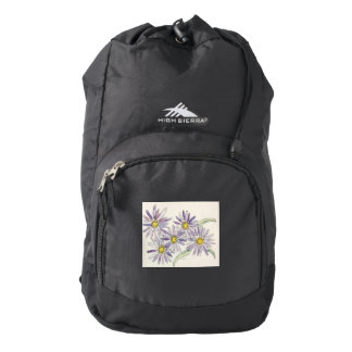 Asters backpack from Nan Henke original watercolor
