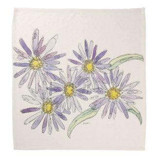 Asters bandana from Nan Henke original watercolor