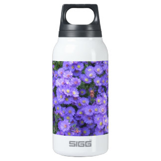 Asters in the Fall Perenial Garden - photo Insulated Water Bottle