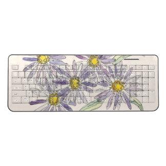 Asters keyboard from Nan Henke original watercolor
