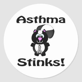 Asthma Stinks Skunk Awareness Design Classic Round Sticker